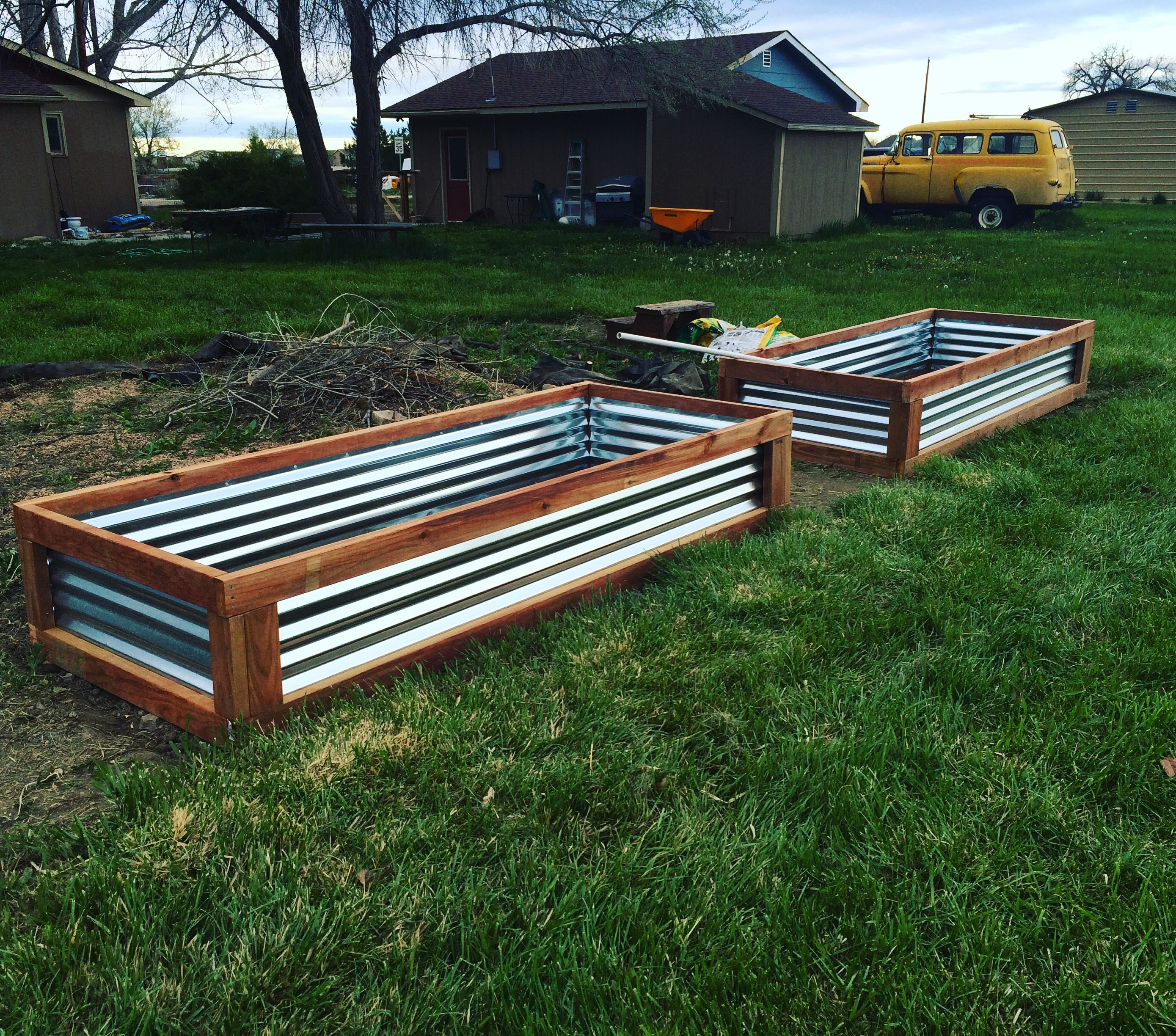 Pretty new raised garden beds. Ready for planting! {Tea & Top Knot}