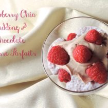 Healthy Valentine's Day Dessert - Raspberry Chia Pudding and Chocolate Mousse Parfaits {Tea & Top Knot}