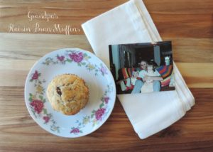 Grandpa's Raisin Bran Muffins {Tea & Top Knot}